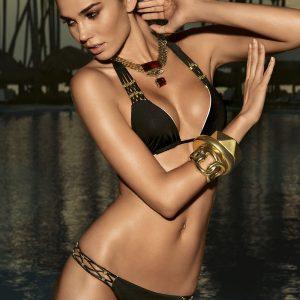 Górna część luksusowego dwuczęściowego kostiumu kąpielowego Diamond